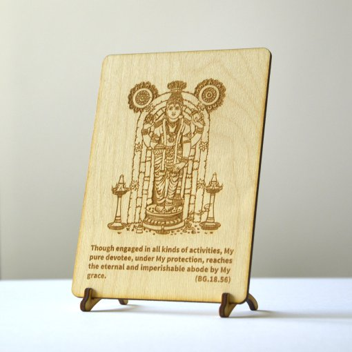 Jagannath Postcards laser cut from woode and engraved with bhagavad gita text 5