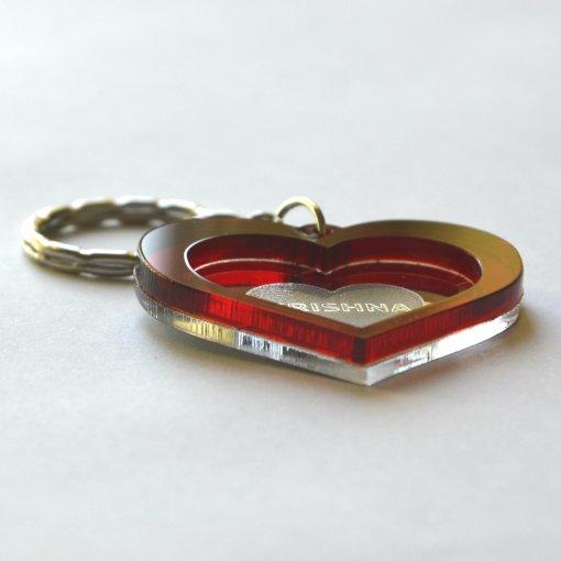 Krishna heart lasercut keychain 2