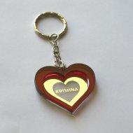 Krishna heart lasercut keychain