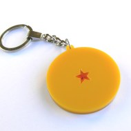 Dragon Ball Z one star ball keychain Laser cut from yellow acrylic plastic