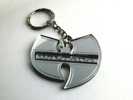 Wu Tang keychain Lasercut from mirror plastic 4