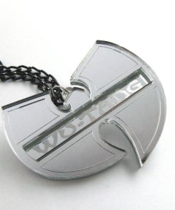 Wu Tang necklace Laser cut from mirror plastic 3