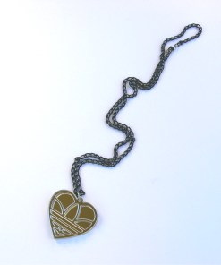 Adidas heart necklace Laser cut from mirror acrylic