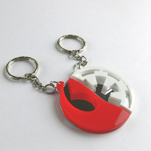 Star Wars Rebels Empire best friends keychains Laser cut from red and white acrylic