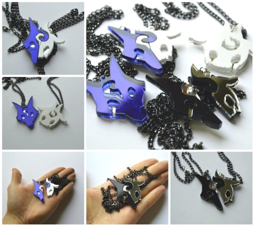 League of Legends collage necklaces