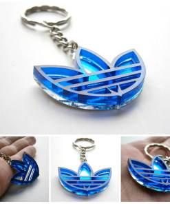 Adidas keychain blue transparent