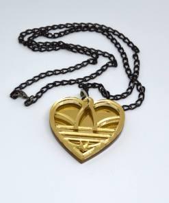 Adidas Necklace Golden Heart1