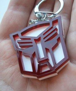 Optimus keychain red and white 3