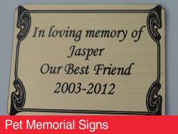 Pet Memorial Signs