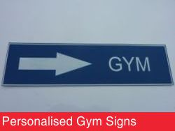 Personalised Gym Signs