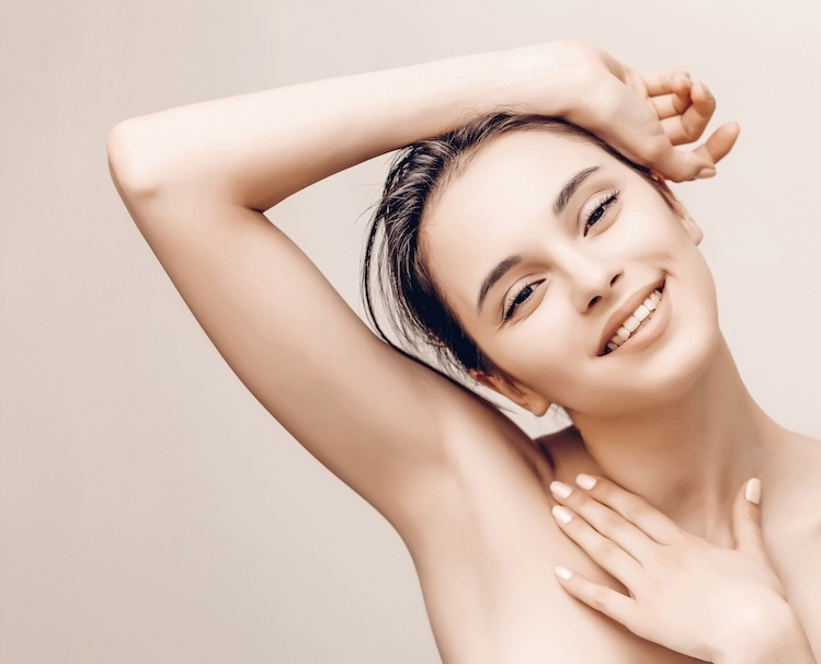happy laser hair removal client