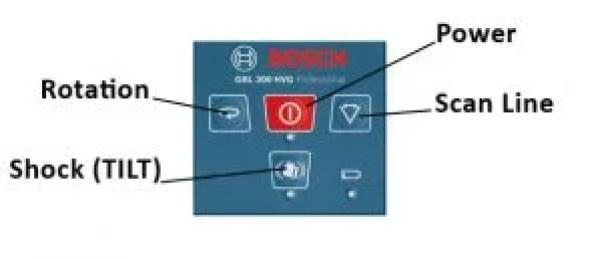 Bosch GRL 250 300 control panel