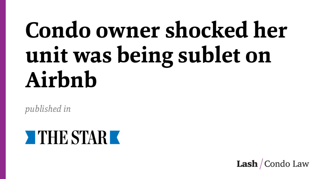 Condo owner shocked her unit was being sublet on Airbnb