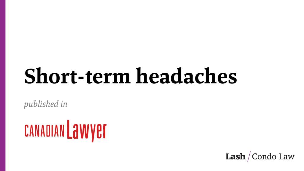 Short-term headaches