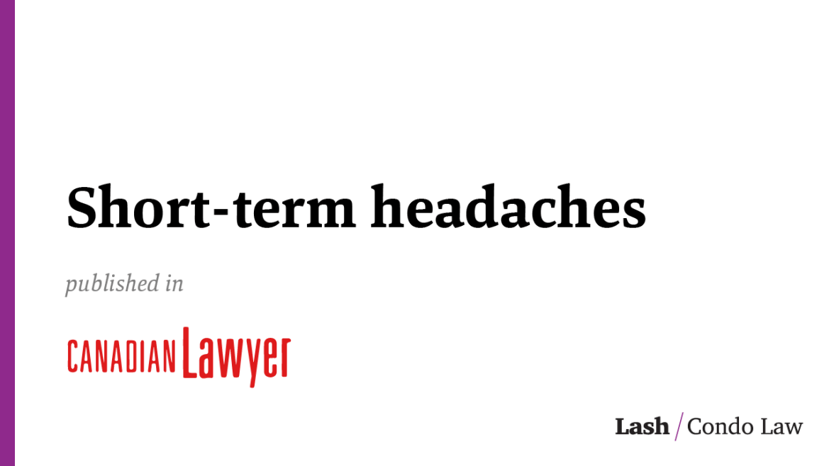 Short-term headaches