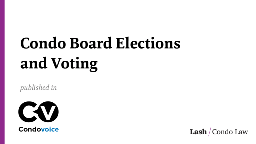Condo Board Elections and Voting