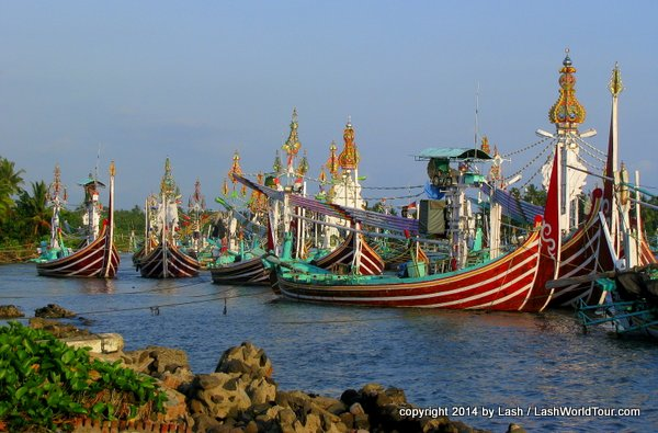 Javanese fishing boats near Negara