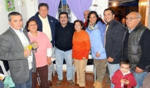 Vecinos junto a alcalde Jorquera