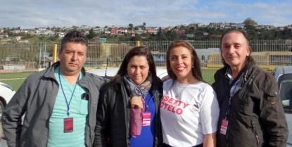Jorge Flores, Dayana Romo, Lisetty Sotelo y José Medina.