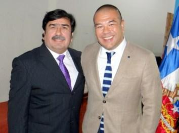 Alcalde Emilio Jorquera y diputado Víctor Torres.