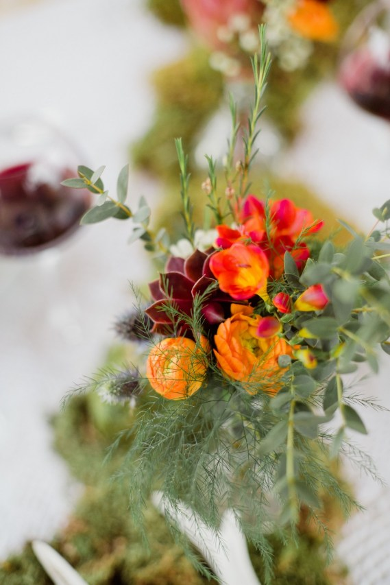 Bouquet de fleurs orange