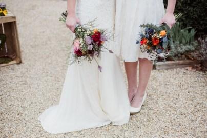 Bouquet de mariée de fleurs sauvages