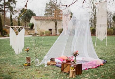 Tipi romantique et vintage pour un mariage