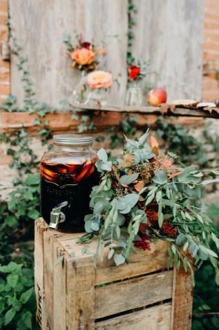 sangria à un mariage en automne