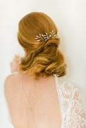 """Peigne cheveux mariée rétro """"Marinella"""" avec cristaux"""