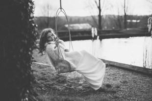 Robe de mariée en hiver