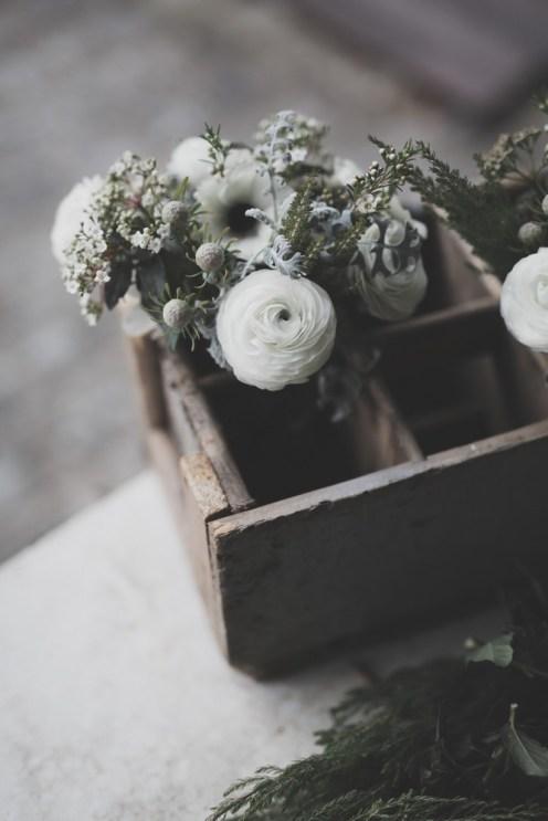 Renoncule blanche pour bouquet de mariée