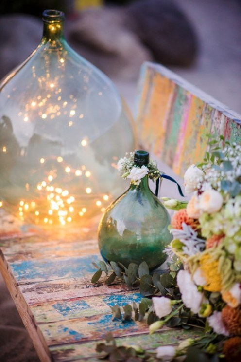Dame Jeanne pour une décoration de mariage