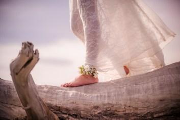 Mariée pieds nus