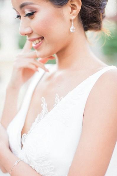 Robe de mariée avec broderie effet tatouage