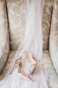 Chaussures de mariée argentées