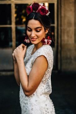 Boucles d'oreilles Esmeralda rouge - Les Couronnes de Victoire