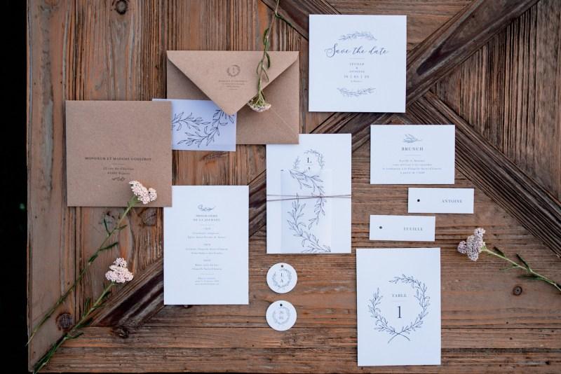 faire-part mariage minimaliste