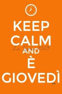 keep calm giovedì