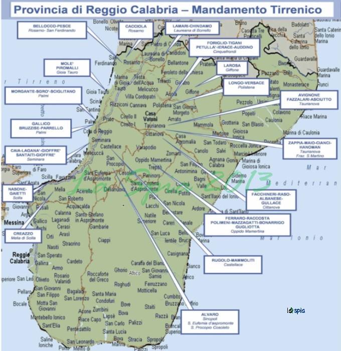 Reggio Calabria Cartina Geografica.Quali Sono Le Famiglie Di Ndrangheta La Mappa Citta Per Citta La Spia Contro Ogni Forma Di Mafia