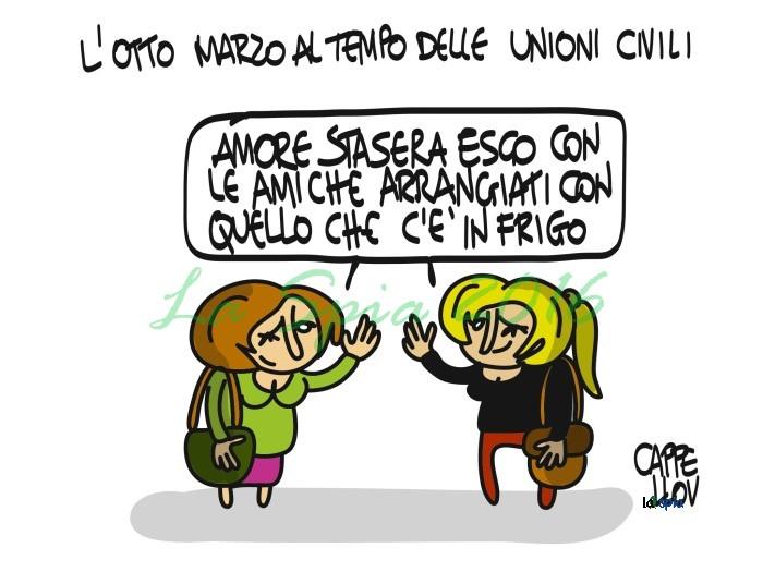 Vignette Per Auguri Matrimonio : Gli auguri alle donne per l otto marzo con le vignette di