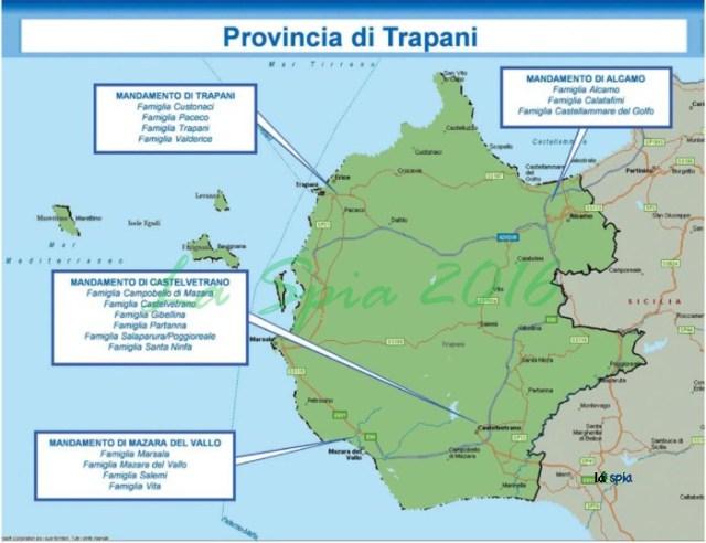 Mappa mafia Provincia Trapani (Dia 2015)