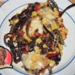 Rajas de Chile Poblano con queso y elote