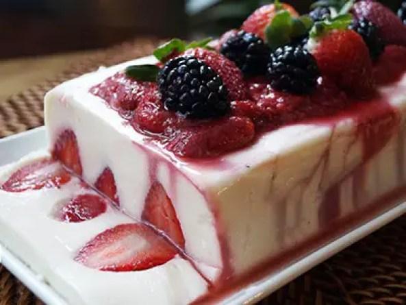 postres faciles de yogurt con frutas