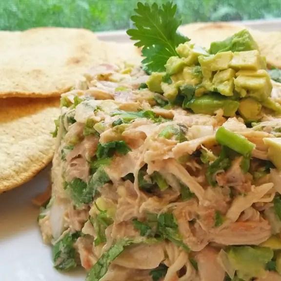 cuadrada ensalada de pollo al cilantro