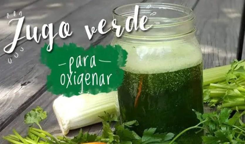 jugo verde para oxigenar- las recetas de laura