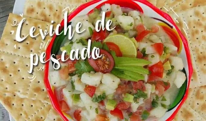 Ceviche de Pescado a la Mexicana - Las Recetas de Laura
