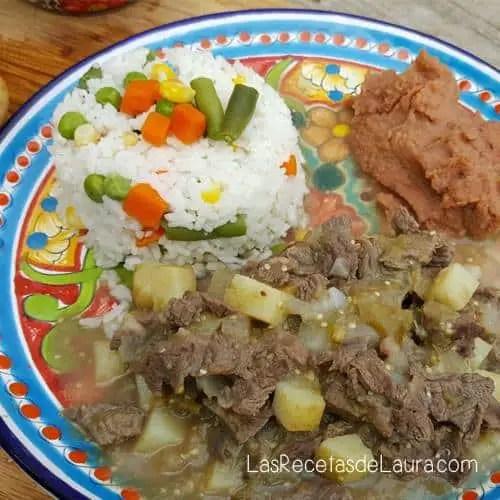 Guisado de Carne con Papas   Las Recetas de Laura