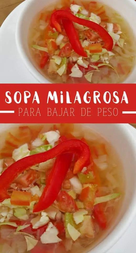receta para adelgazar con sopa de repollo