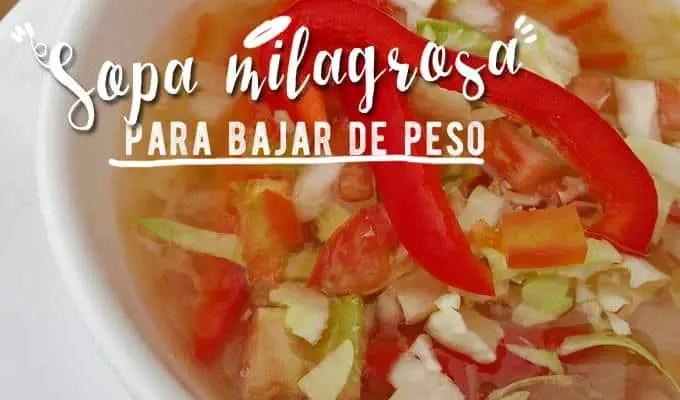 receta de la sopa milagrosa de repollo