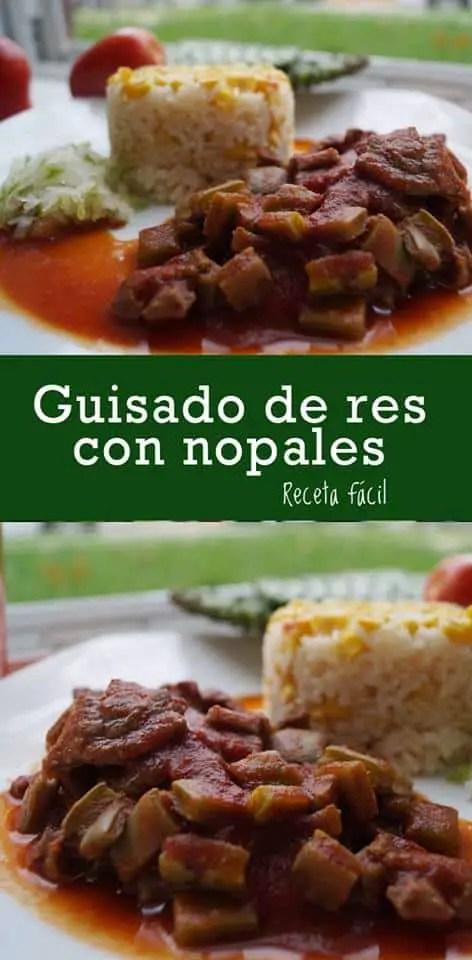 Carne con Nopales y Chile Colorado | Las Recetas de Laura